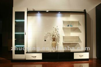 Tv cabinets wall units designs in living room buy tv for Living room cupboard designs in india