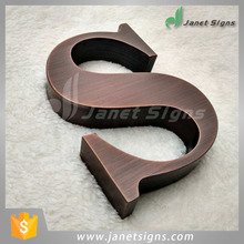 Customized wall mounted 3d stainless steel letter channel letters without light