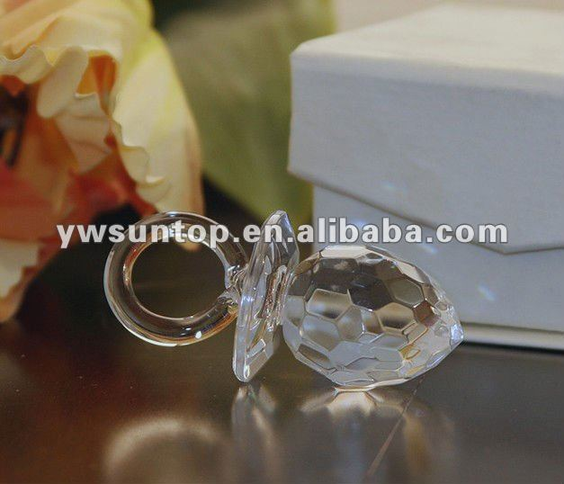 Crystal Baby nipple for wedding and baby shower gifts