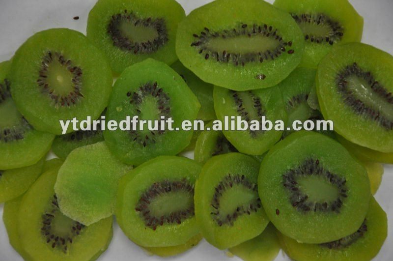 drieded kiwi fruit (with green color added)