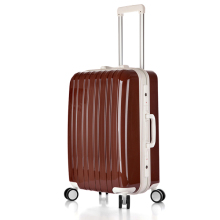 Trolley Bag Type ABS Material Black Color Luggage Bag,Aluminium makeup trolley case