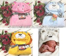 Baby Top Bath Time Hooded Spa Robe Animal Baby Bathrobe