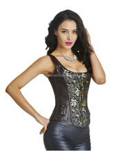 High Quality Plus Size Cheap Women's Slimming Vest Shaperwear Body Shaper Brown Gothic Waist Trainer Corset