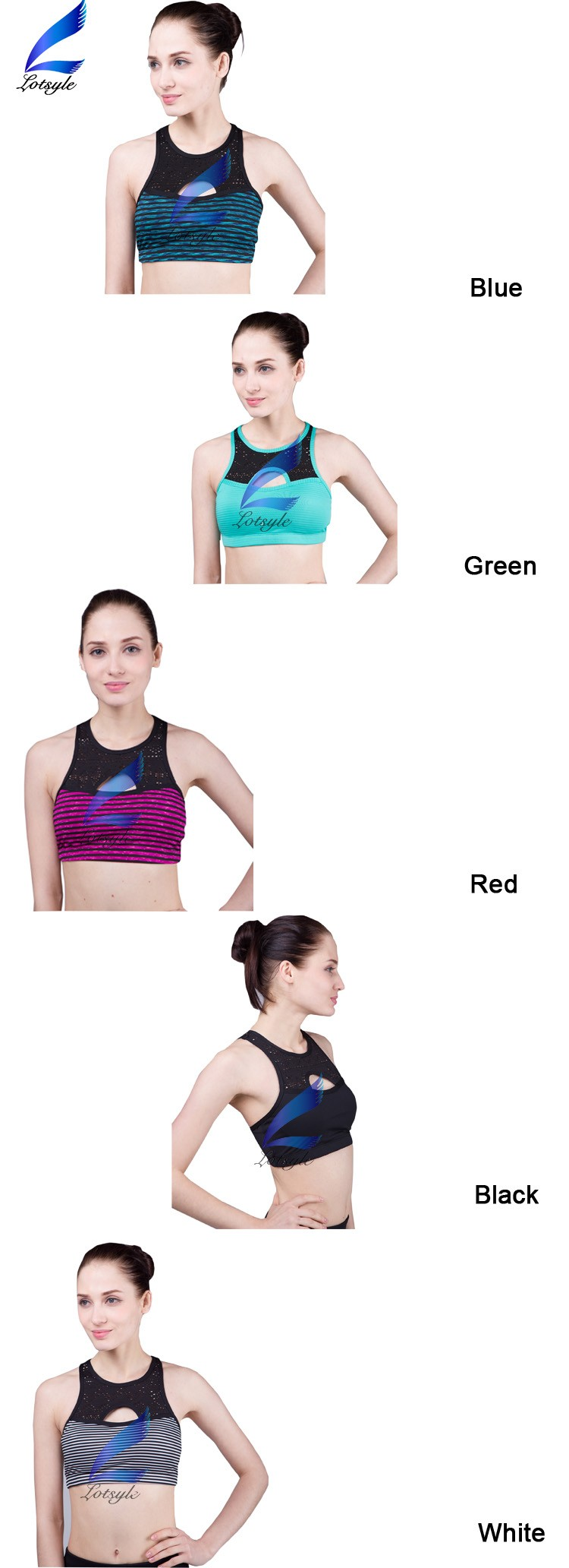 Lotsyle Breathable Sport Wear Women Wholesale Sports Bra