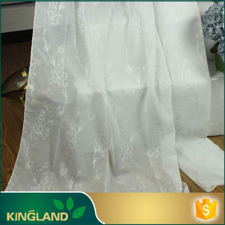 KingLand Free Sample Small MOQ Elegant embroidery chinese silk curtains