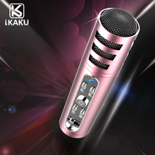 Rohs oem portable dynamic echo smartphone computer usb speaker magic sing along karoke microphone