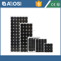 cheapest grade A 200watt mono pv flat solar panel stock with ce