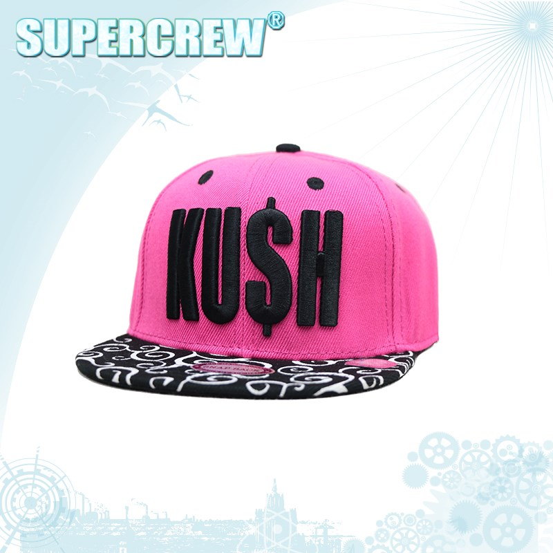 Hot Design Pink Wholesale Embroideried Snapback Woman Cap Custom