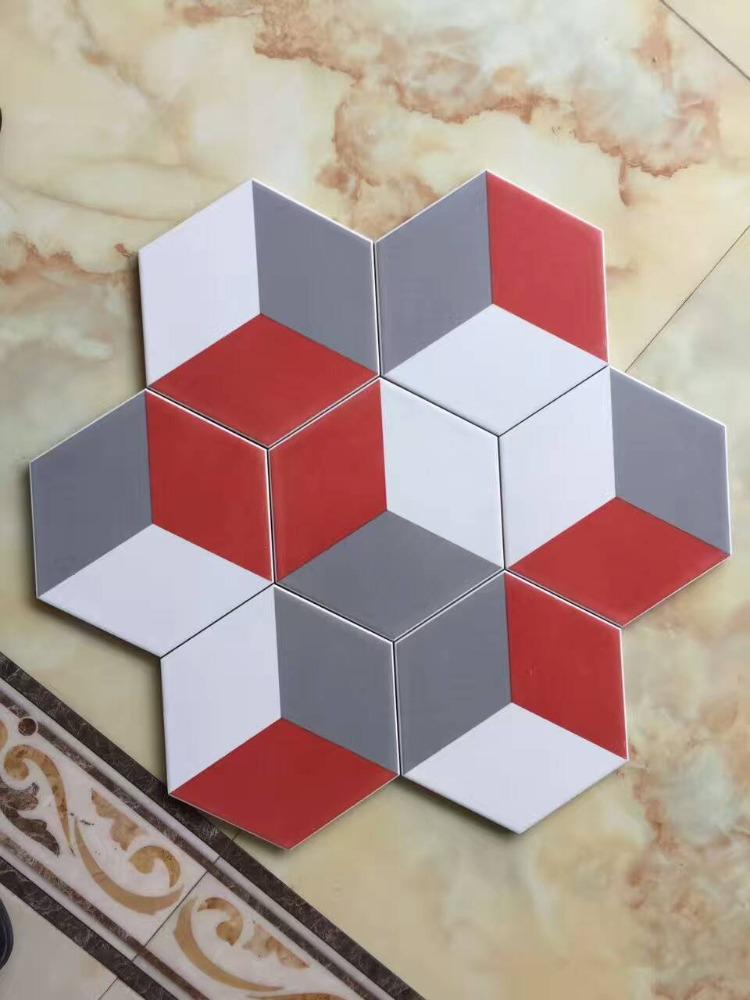 hexagon tiles with 3D visualized effects