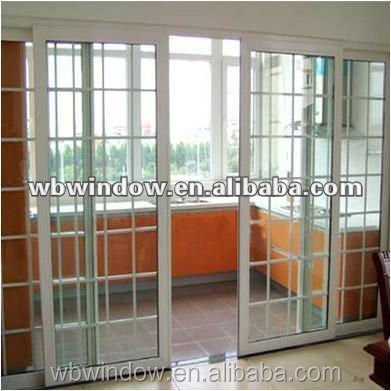 French double glazed plastic vinyl interior sliding glass for Plastic french doors