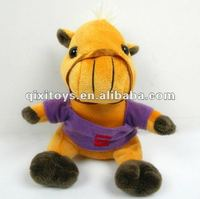 lovely race stuffed and plush horse toy with T-shirt