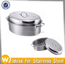 Best Selling Baking Stainless Steel Roasting Pan With Rack and Lid