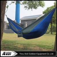 Best Promotion Blue Gray Portable Parachute Nylon Fabric Hammock Travel Camping Outdoor For Two Persons Lowest Price