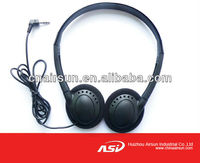 Airplane Headset Headphone Single 3.5mm Stereo Jack