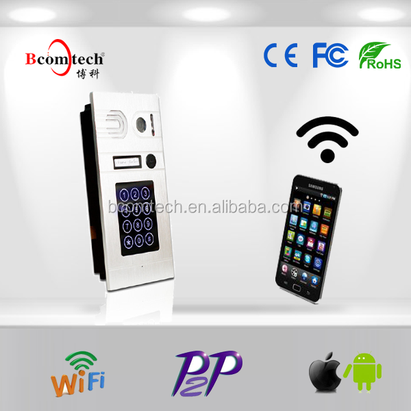 Bcomtech wireless video door phone intercom system with wired or wifi connection