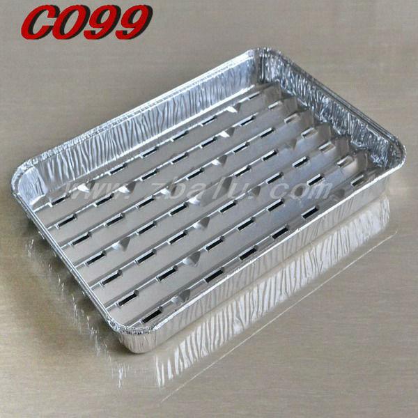 Disposable Aluminium Foil Korea BBQ Grill Pan C099