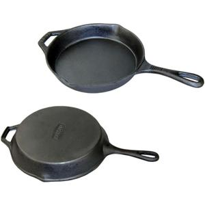 rectangular enamel coated cast iron deep fry pan with removable wooden handle