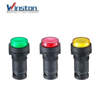 led push button switch Convex head button red green yellow 22mm