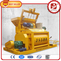 Most popular optional type high efficient stationary double twin shaft concrete mixer machine's spare parts in india