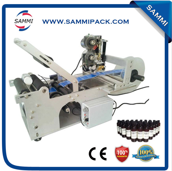 Manual Bottle Labeling Machine, Sticker Labeler With Printing Labeling Machine