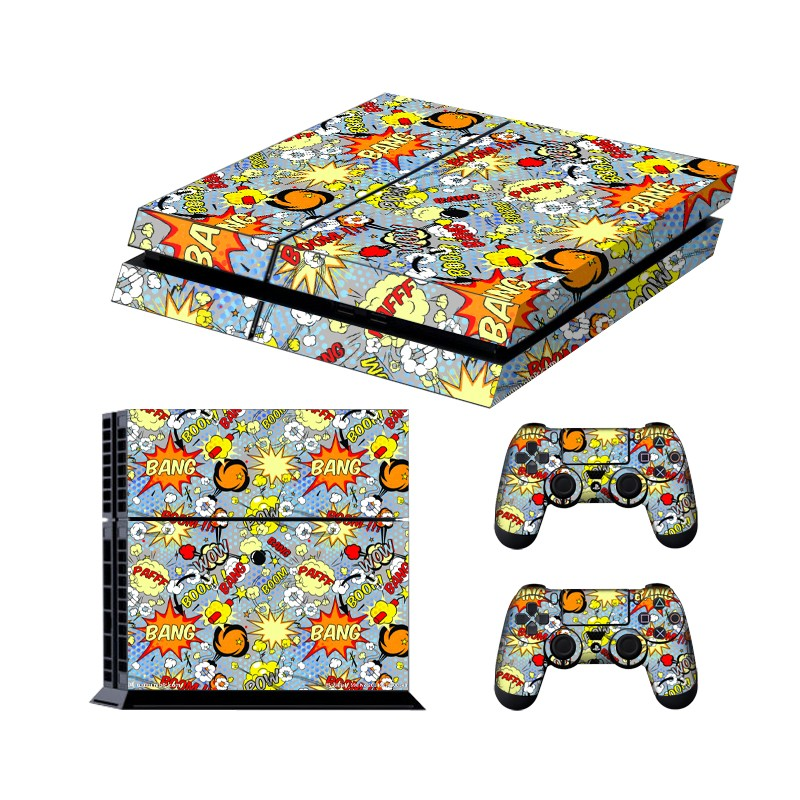 Best papular vulcanian eruption Wrap sticker for PS4 console and 2 Controllers Decorative Skins