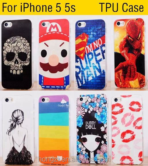 Man's Fashion Soft TPU IMD For iphone 6 7 7 plus UK US Flag Bat Pattern Painted Case Back Cover