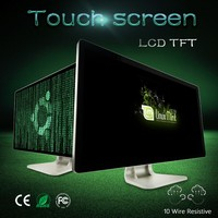 LCD touch screen monitor 20 inch LCD color tv monitor touch panel pc/computer display monitor with vga port