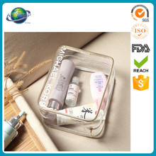 waterproof washing transparent ladies clear toiletry cosmetic pvc bags