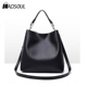 Women Fashion Shoulder Bag Soild Color Concise PU Diagonal Handbag