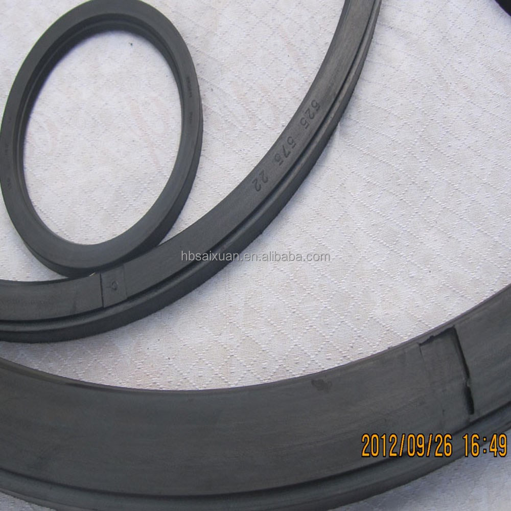 General rubber fabric rotary shaft seal custom rubber water pump seals for steel roll bearing seal