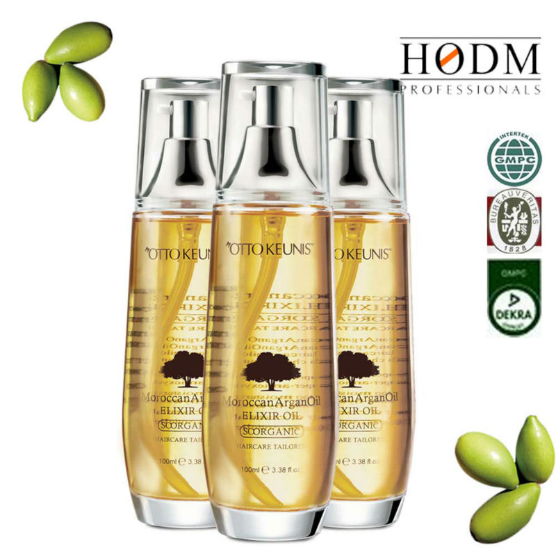 HODM professionals cosmetic product argan oil/hair repair treatment/hair shine serum