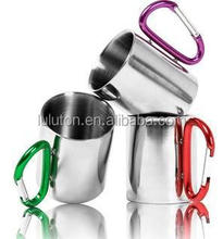 14oz carabiner stainless steel plastic soup mug promotional mug travel mug with handle
