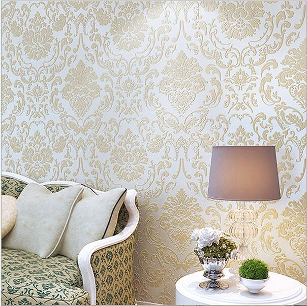 Non-woven luxury vinyl 3d Wallpaper for home decoration high quality flower floral wallpaper