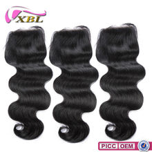 XBL 2015 Wholesale 100% Human Hair Cambodian Hair Lace Closures