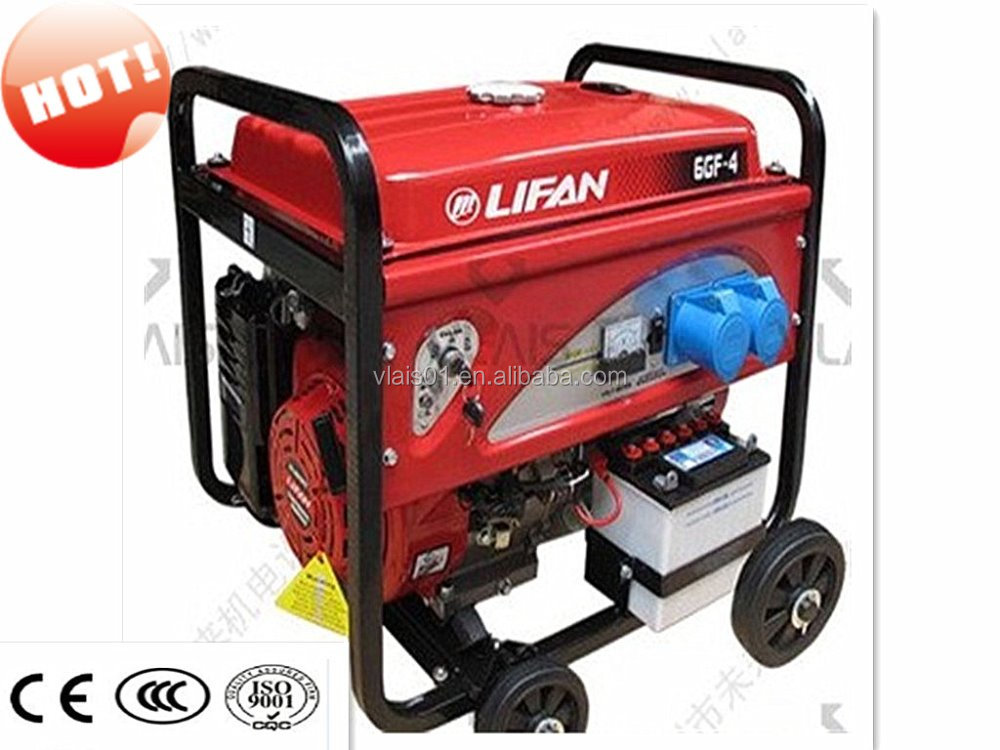 2016 Hot sale Diesel generator 6kva portable battery operated gasoline generator in india price