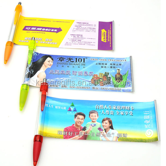Best selling pull out banner pens/Promotion banner pen for gifts