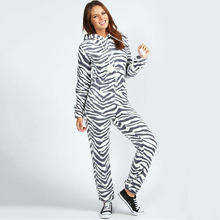 Wholesale factory price zebra stripes couple casual adult polyester onesie