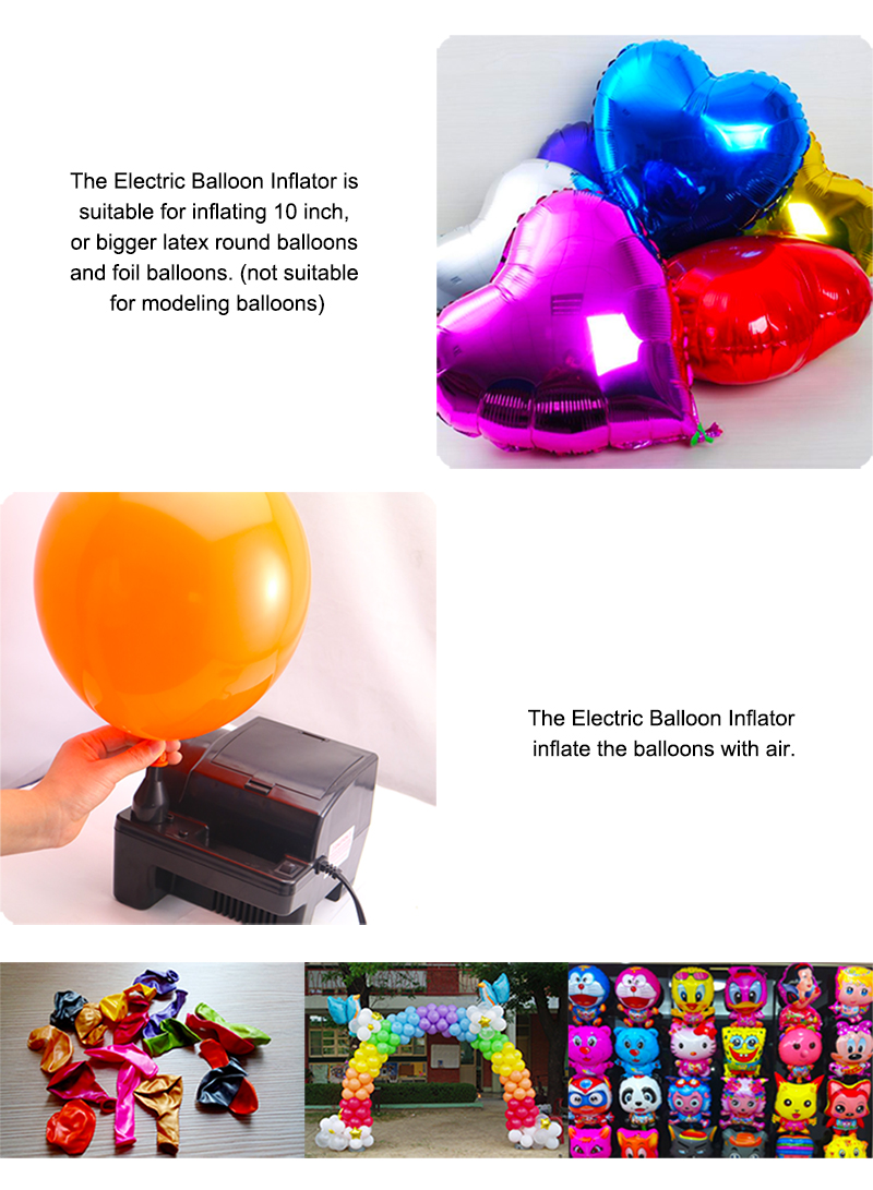 Wedding Decoration Foil Electric Balloon Pump Party Decoration Balloon Inflator B321
