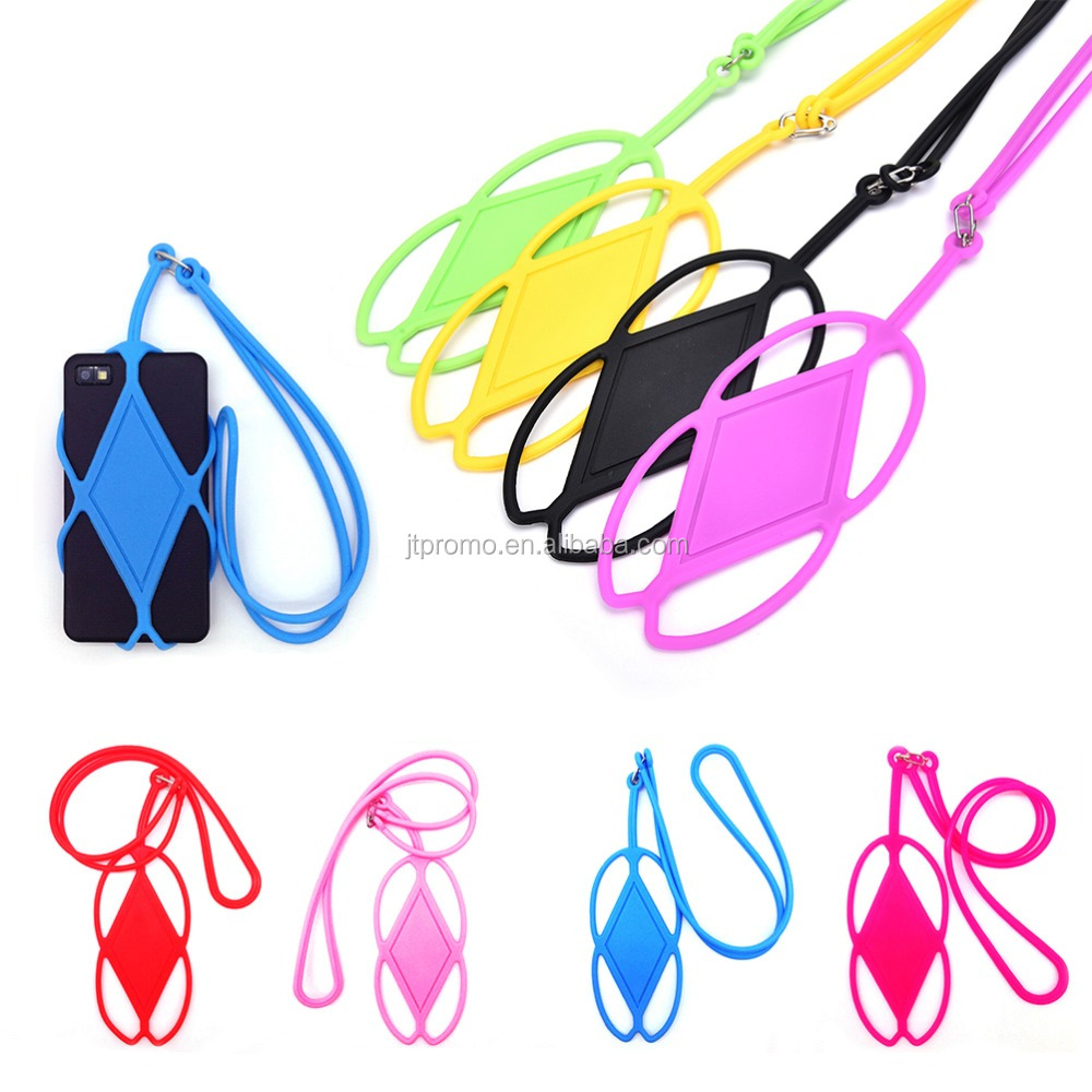 silicone cell phone holder hanging universal Phone case cover holder sling lanyard