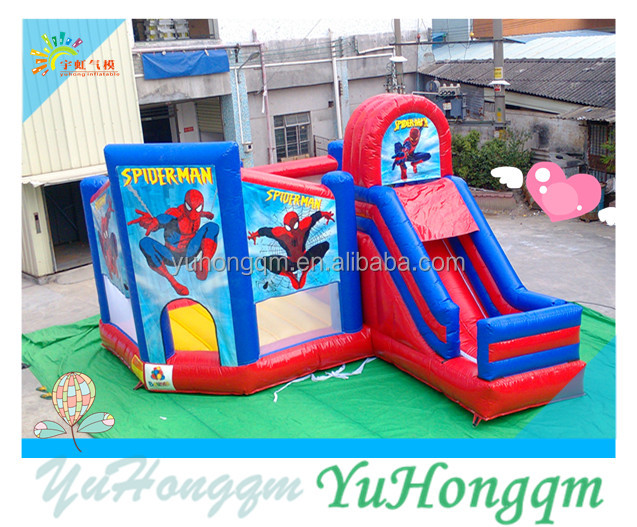 china cheap hot selling cartoon themed inflatable jump & slide bouncer combos bounce house for commercial use for kid