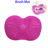 Silicone Makeup Brush Cleaning Mat Cosmetic Washing Tool with Suction Cup