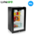 LVNI 95L compressor black refrigerator small glass door showcase mini bar fridge