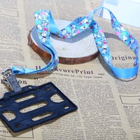 Free sample id lanyard with plastic bulldog clip