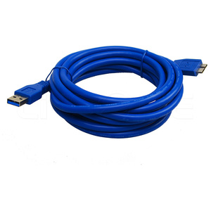 USB 3.0 male type A to micro B extension coiled power cable