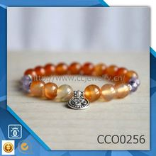 Alibaba cina Latest fashion trends wholesale stretch Natural gemstone bead OM Bracelets