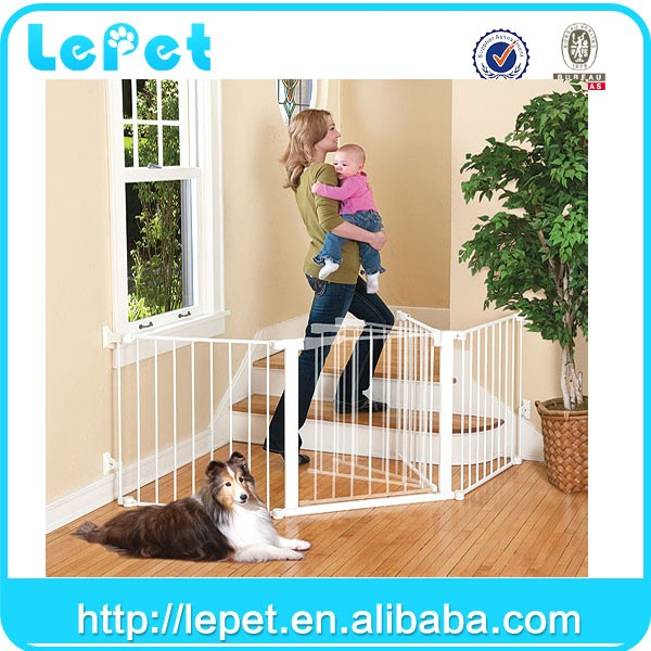 For Amazon and eBay stores Extra-Wide Baby Safety Gate Easy Step Walk Thru Gate