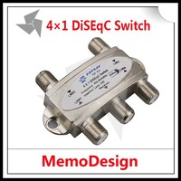 Hot Selling 4 in 1 DiSEqC 4x1 DiSEqC Switch Satellites FTA TV LNB Switch For SET TOP BOX FAY 41N Satellite TV Receiver Switch