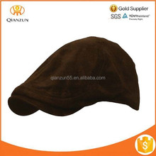 Newsboy Cap Golf Driving Flat Mens Cabbie Suede Leather Ivy Hat
