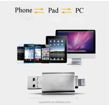 New arrival three in one u disk usb flash drive otg for iPhone/Android/pc