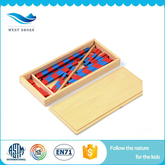 Daycare wooden educational math Montessori materials toys small numerical rods